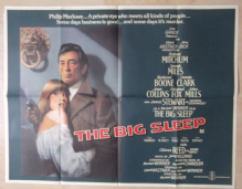 Big Sleep, Original UK Quad Poster, Robert Mitchum is Philip Marlowe, '78